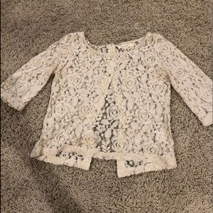 Tops - Shear lace top — off-white